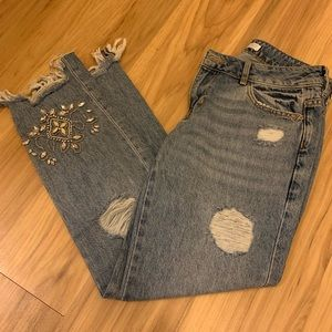 Zara Jeans - ZARA jeweled jeans sz 2 new